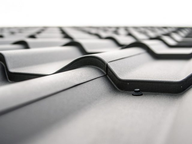 Brick Tiles Black Roof Plate Tile The Roof Of The